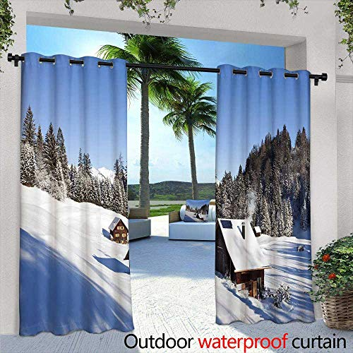 Outdoor Blackout Curtains,Half lenght portrait of a Darth Vader costume replica Lord Fener is a fictional character of Star Wars saga Black background,W96