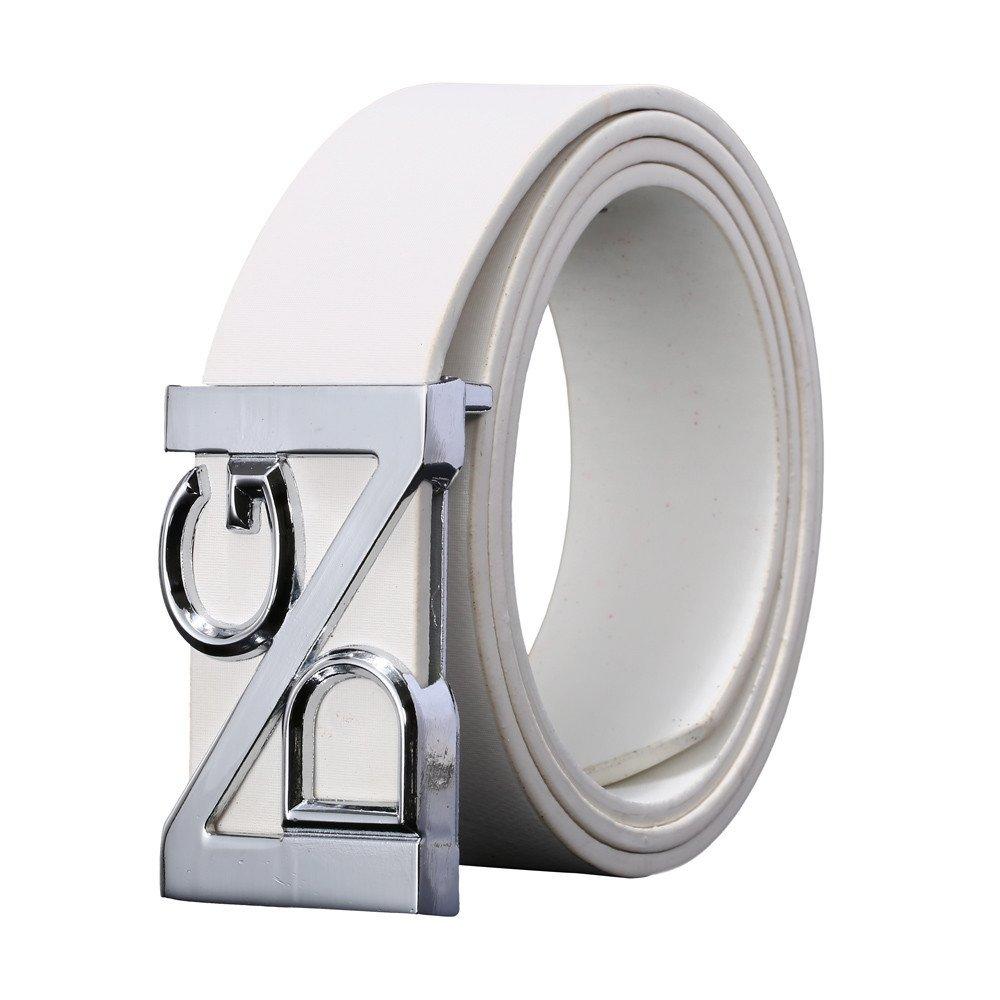 Big Sale SFE Unisex Belt Leather Buckle Casual Waist Strap Waistband Outdoor (White)
