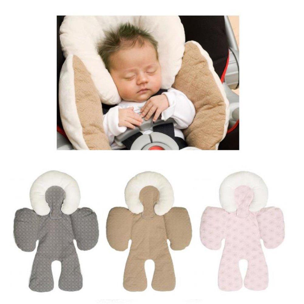 Fyore 3D K/örperunterst/ützung Auflage Kinderwagen Baby Buggy Sitzauflage Kissen Warme Pad Reversibel Saison Grau