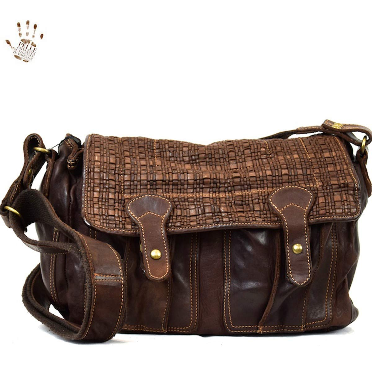 Dream Leather Bags Made in Italy Genuine Leather メンズ 646-2 US サイズ: 1 M US カラー: ブラウン B07J9R7QQY
