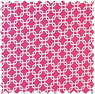 product image for SheetWorld Hot Pink Links Fabric - By The Yard