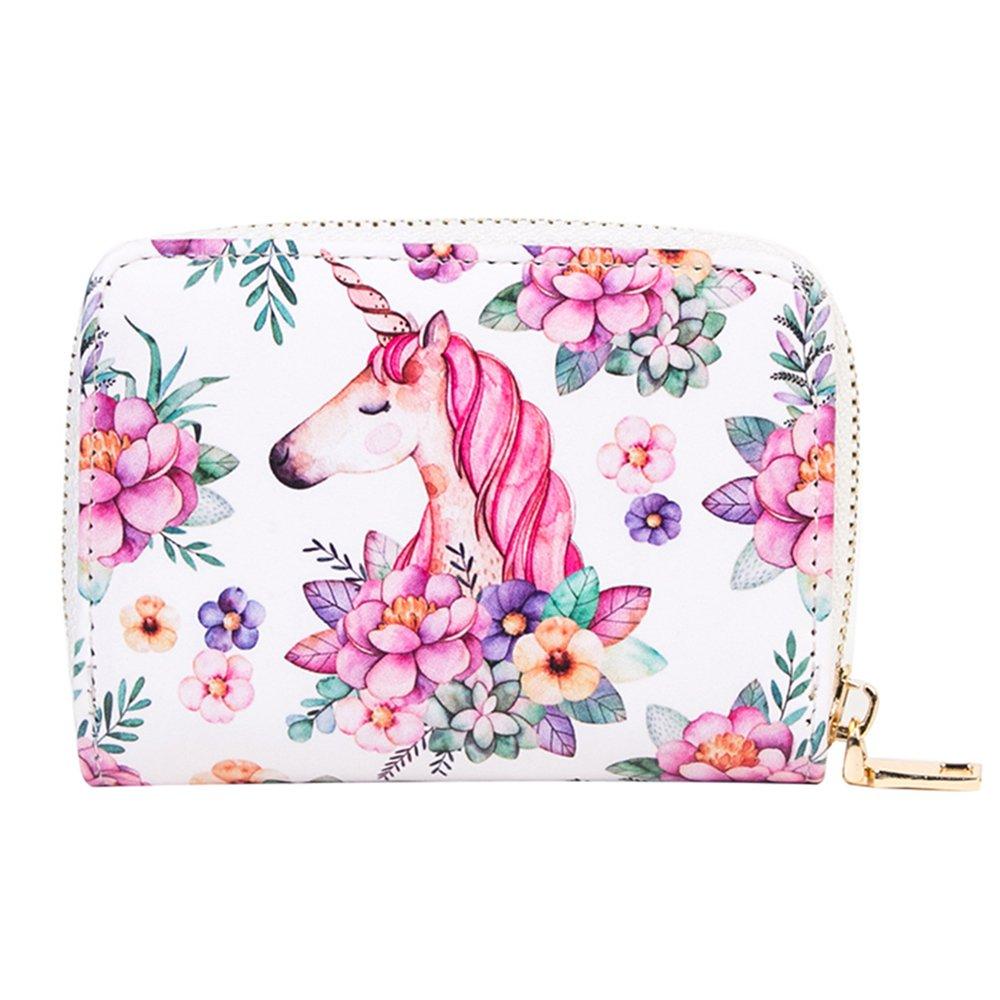 Fancy Women Card Case Floral Design Card Holder Printed Credit Card Wallets for Girls (Fancy Pineapple) JMD045-04