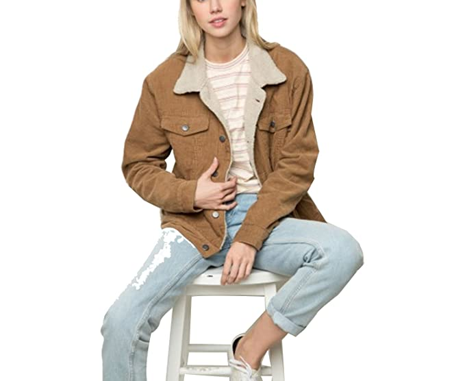 Amazon.com: Merryday - Chaqueta de invierno casual marrón de ...