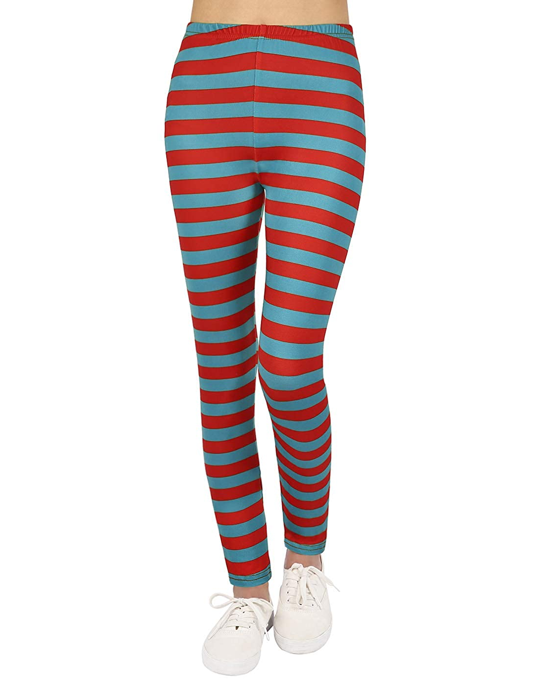 1645851f3356f Amazon.com: HDE Girl's Ultra Soft Leggings with Print Designs Full Ankle  Length Comfy Pants: Clothing