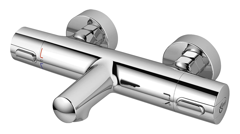 Ideal Standard A4623AA CERATHERM 100 New TERMOSTATICO Esterno Vasca//Doccia Cromo Argento