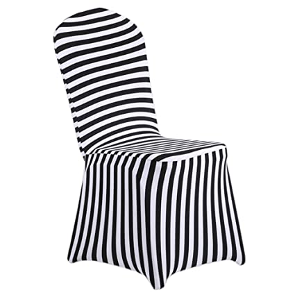 Amazon Com Shzons Dining Room Chair Covers Trade Stretch Stripe