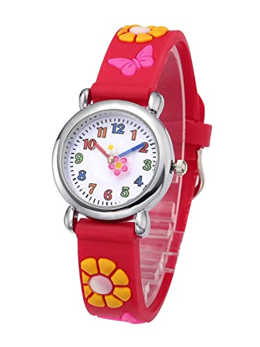 Kids Watches Child Time Learning Toys Flower Cute Children Watches Cartoon Silicone Digital Wristwatch Boys Girls Wrist Watches Watches