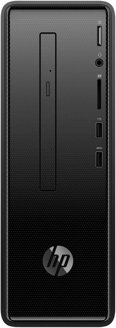 PC HP Slimline 290-P0066NS - I3-8100 - 4GB - 1TB - DVD RW - WiFi - HDMI - BT - Tec+Raton - Formato MINITORRE - FREEDOS - Negro