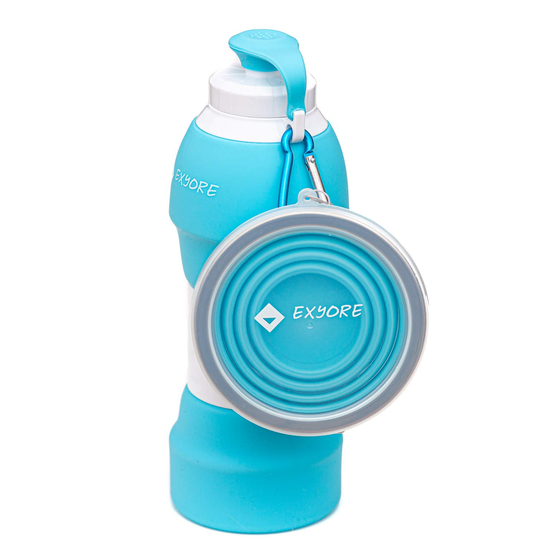 irrompible EXYORE ecol/ógica Fitness Reutilizable sin BPA Botella de infusi/ón para ni/ños y Adultos de Silicona alimentaria Impermeable Viaje Camping para Senderismo Plegable