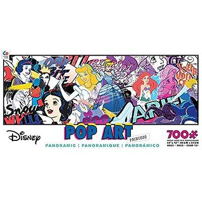 Ceaco Disney Panoramic Pop Art Princess Jigsaw Puzzle, 700 Pieces: Toys & Games