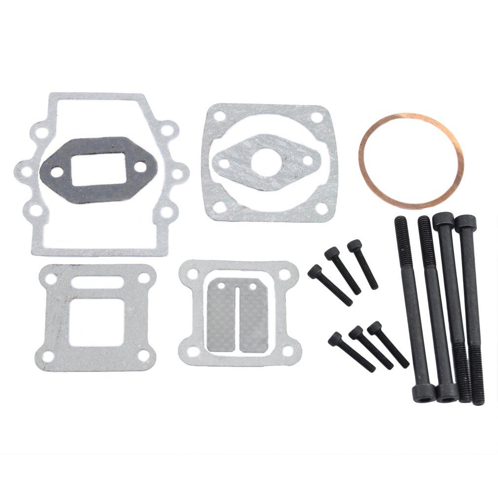 GOOFIT Engine Cylinder Head Gasket Kit mounting nut for Gasket Set for 2-stroke 43cc 47cc49cc Pocket Bike Mini Bike Mini Pit Pocket Dirt Bike