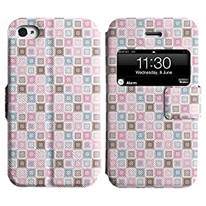 Be-Star Diseño Impreso Colorido Slim Casa Carcasa Funda Case PU Cuero - Stand Function para Apple iPhone 4 / 4S ( Many Boxes )