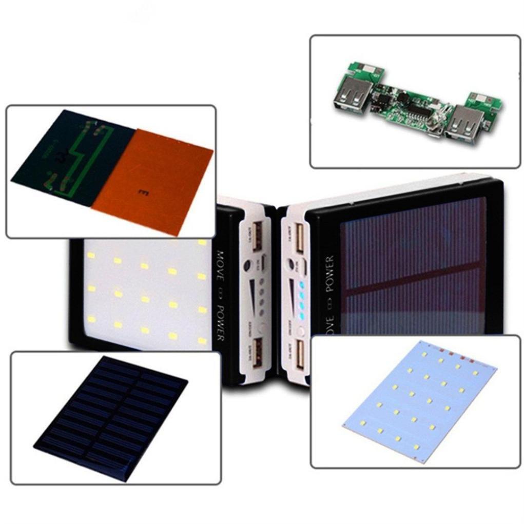 Amazon.com: Cargador solar, sukeq bricolaje impermeable Dual ...