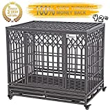 "Best Heavy Duty Dog Crates - SMONTER 42"" Heavy Duty Dog Crate Strong Metal Review"