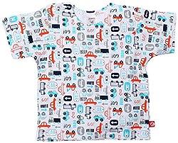 Zutano Beep Beep T-Shirt (Baby) - White-6 Months