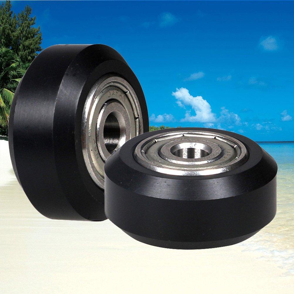 UKCOCO Impresora 3D Pequeña rueda redonda de polea de plástico con ...
