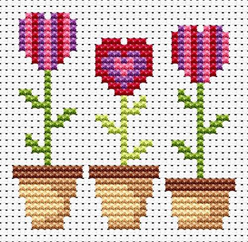 Sew Simple Love Grows Cross Stitch Kit by Fat Cat Cross Stitch