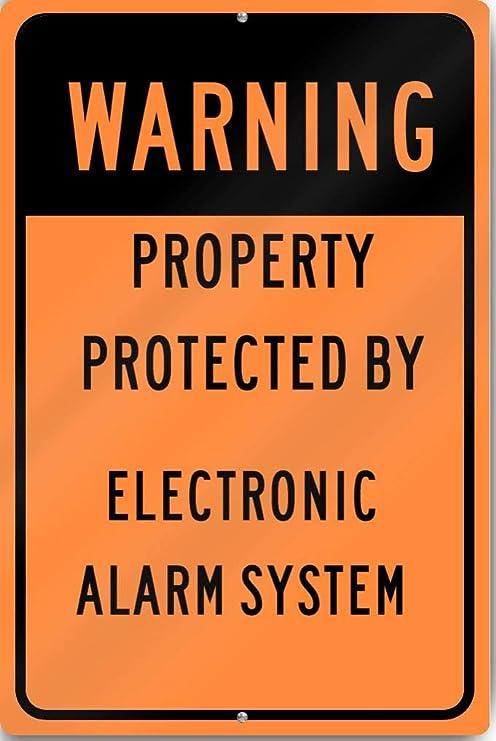 Eugene49Mor Señal de Advertencia protegida por Sistema de ...