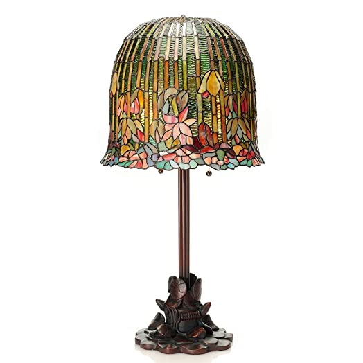 29 H Tiffany Style Pond Lily Stained Glass Table Lamp