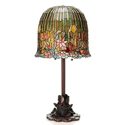 Amazon Com 29 H Tiffany Style Pond Lily Stained Glass Table Lamp