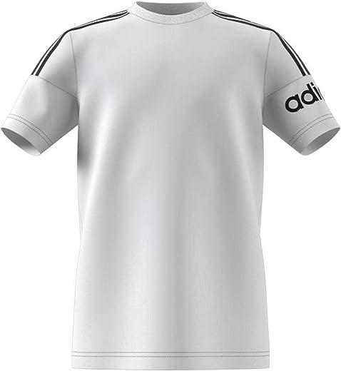adidas unisex-child YB CREW T-SHIRT SHIRT, Color: White, Size: 7-8 Y