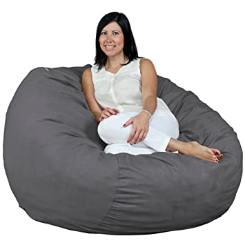 FUGU Bean Bag Chair Foam Filled Double Layered Construction 4 Foot XL