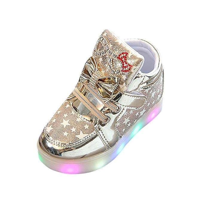 Amazon.com: botrong bebé Sneakers a la Moda Star luminoso ...