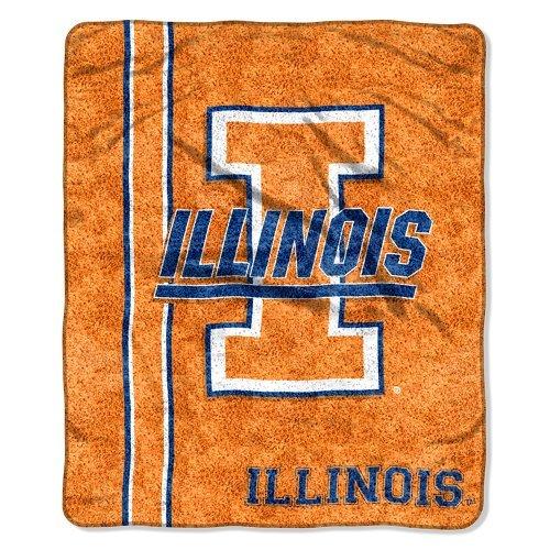 The Northwest Company Officially Licensed NCAA Northwest Illinois Illini Sherpa Jersey 60