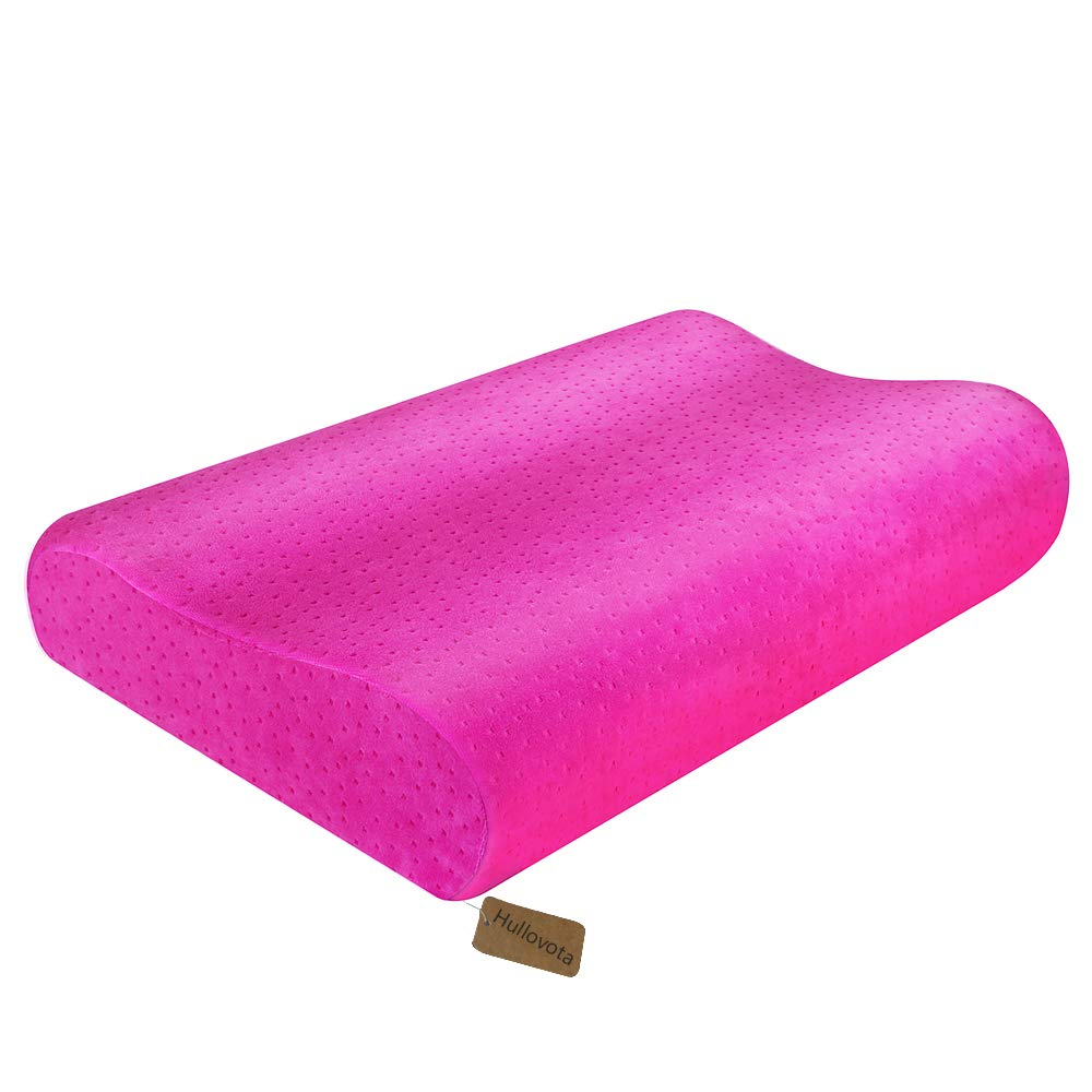 Anti Snoring Pillows for Side Sleeper Cervical Stiff Neck Support Pillow for Sleeping Shoulder and Neck Pain Firm Memory Foam Pillow Chiropractic Contour Pillow Orthopedic for Back Pain (Rose Pink)