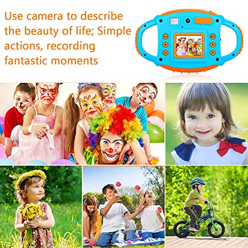 ifmeyasi WiFi Kids Camera, 1080P 8MP Digital Video Cameras for 3-8 Year Old Girls Boys Gift, Shockproof Mini Child Camcorder with 1.77 LCD Display, Mic, Flash Light(16GB Memory Card Included) by ifmeyasi (Image #6)