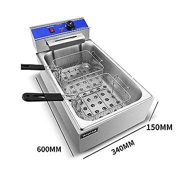 Máquina extrusora de papas fritas extra larga de 30 cm. Extrusora de puré de papas, extrusora de cocina especial con herramientas para freír y set de ...