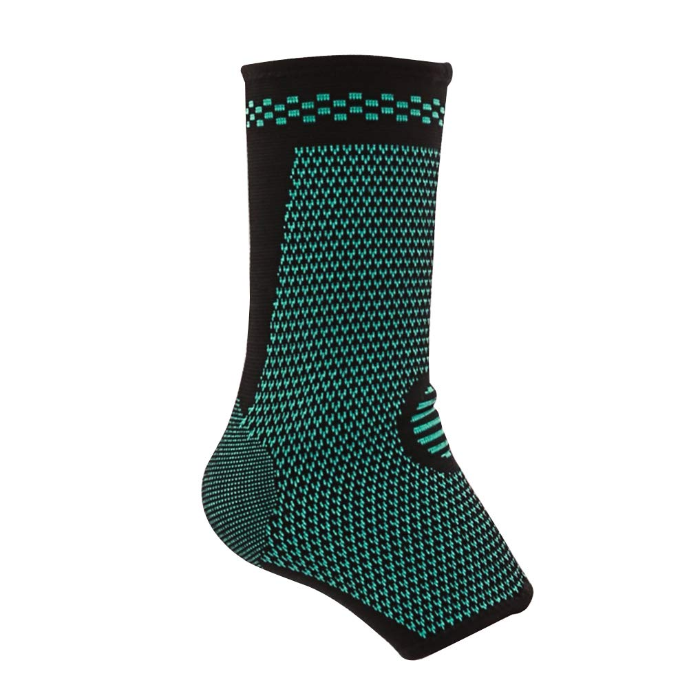 Alamana 1Pc Nylon Breathable Ankle Brace Sports Gym Ankle Protector Black + Green XL