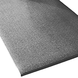 Rhino Mats CST-2472-58G Comfort Step Textured Vinyl Foam Anti-Fatigue Mat, 2\' Width x 6\' Length x 5/8\