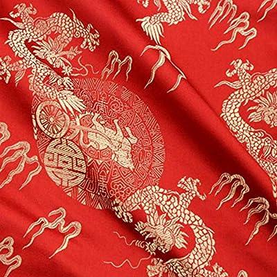Disfraz de dragón chino de tela brocado satinado satinado retro, 1 ...