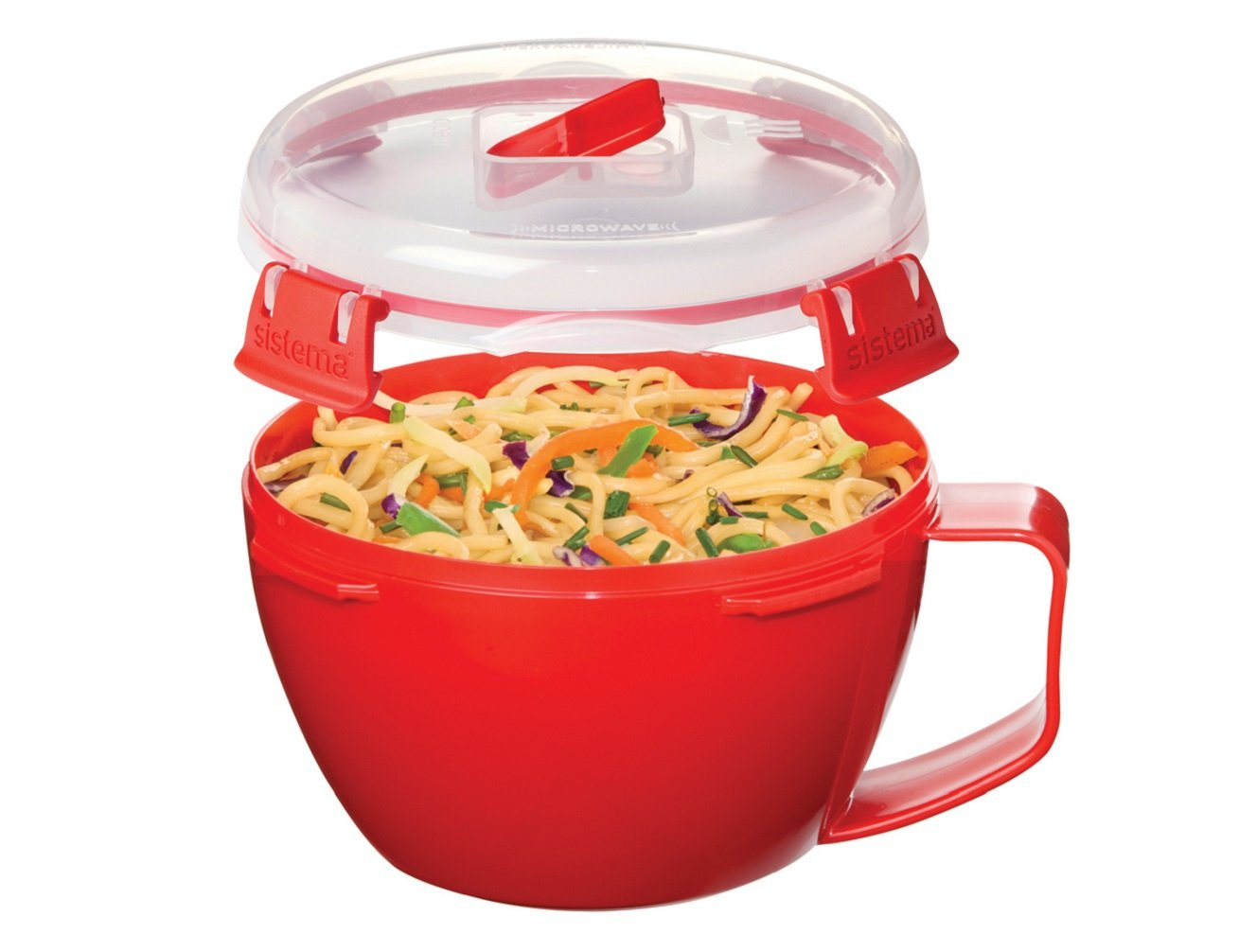 Sistema Microwave Collection Noodle Bowl, 31.7 oz./0.9 L, Red (1109ZS) by Sistema (Image #3)
