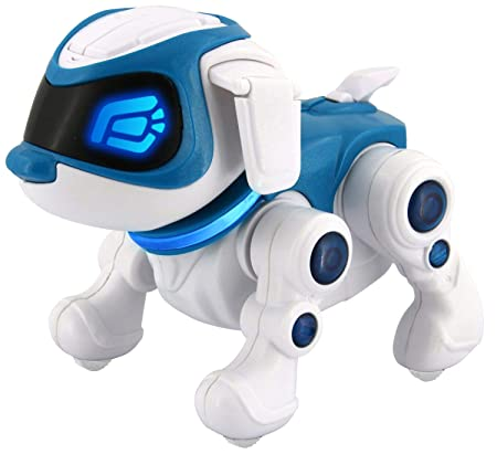 Splash Toys 30663 - TEKSTA Roboter Hund 360, elektronisches Haustier, Roboterhund, macht Saltos, tanzt, reagiert auf Ansprach