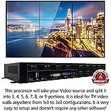 3x3 HDMI Video Wall Processor (2018 Version) HD TV 1080P Matrix Controller Splicer Splitter Display 3x2 2x2 3x1 1x3 2x3 4x2 2x4
