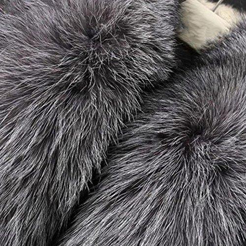 Vlunt Veste Outwear Cheveux Femmes Gilet Gilet Manches Vest Longs Gilet Fur Vest Shaggy Faux sans rrpwSq