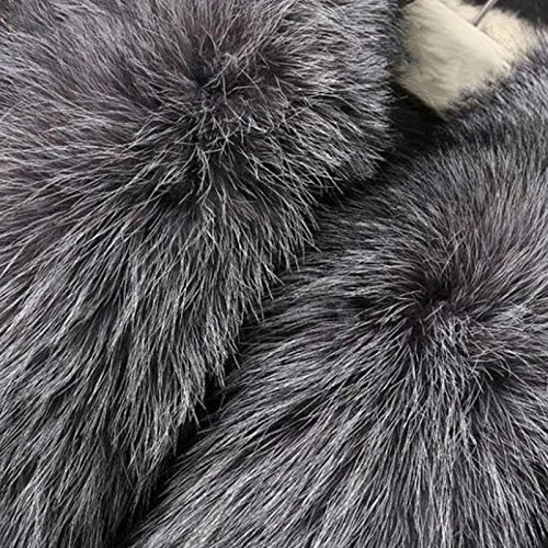 Vlunt - Chaleco de pelo largo sin mangas para mujer, pelo sintético