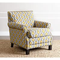 LIVING Chloe Yellow Pattern Club Chair