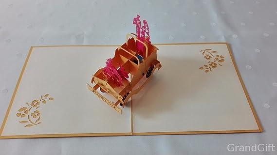 Día del padre de la boda coche 3d Pop Up Tarjetas de felicitación aniversario cumpleaños de bebé Pascua Halloween madre nueva casa año nuevo día de Acción ...