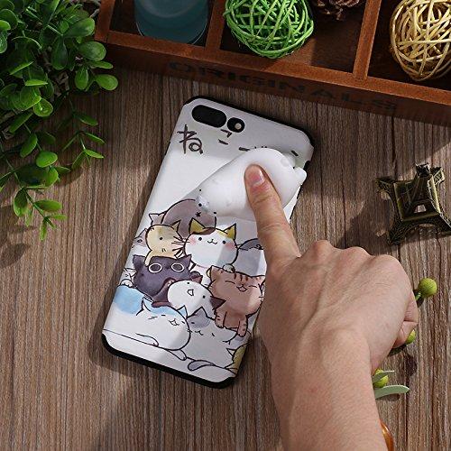 Pinzhi Netter Karikatur Telefon Kasten für iPhone 7, iPhone 7s 3D Nettes Weiches Silikon Pappy Squishy Eisbär Modell