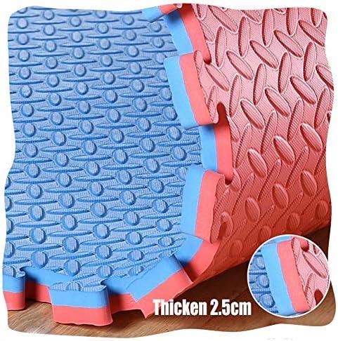 YANGJUN 連動ベビーフォーム プレイマット 子供の泡プレイマット パズルプレイマット ジョイントマット 両面 滑り止め 防水 保護 葉の模様 厚く、 厚さ2.5cm 5色 (Color : B, Size : 100x100x2.5cm-12PCS)