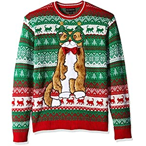 Blizzard Bay Men's Decked Out Kitty Ugly Christmas Sweater