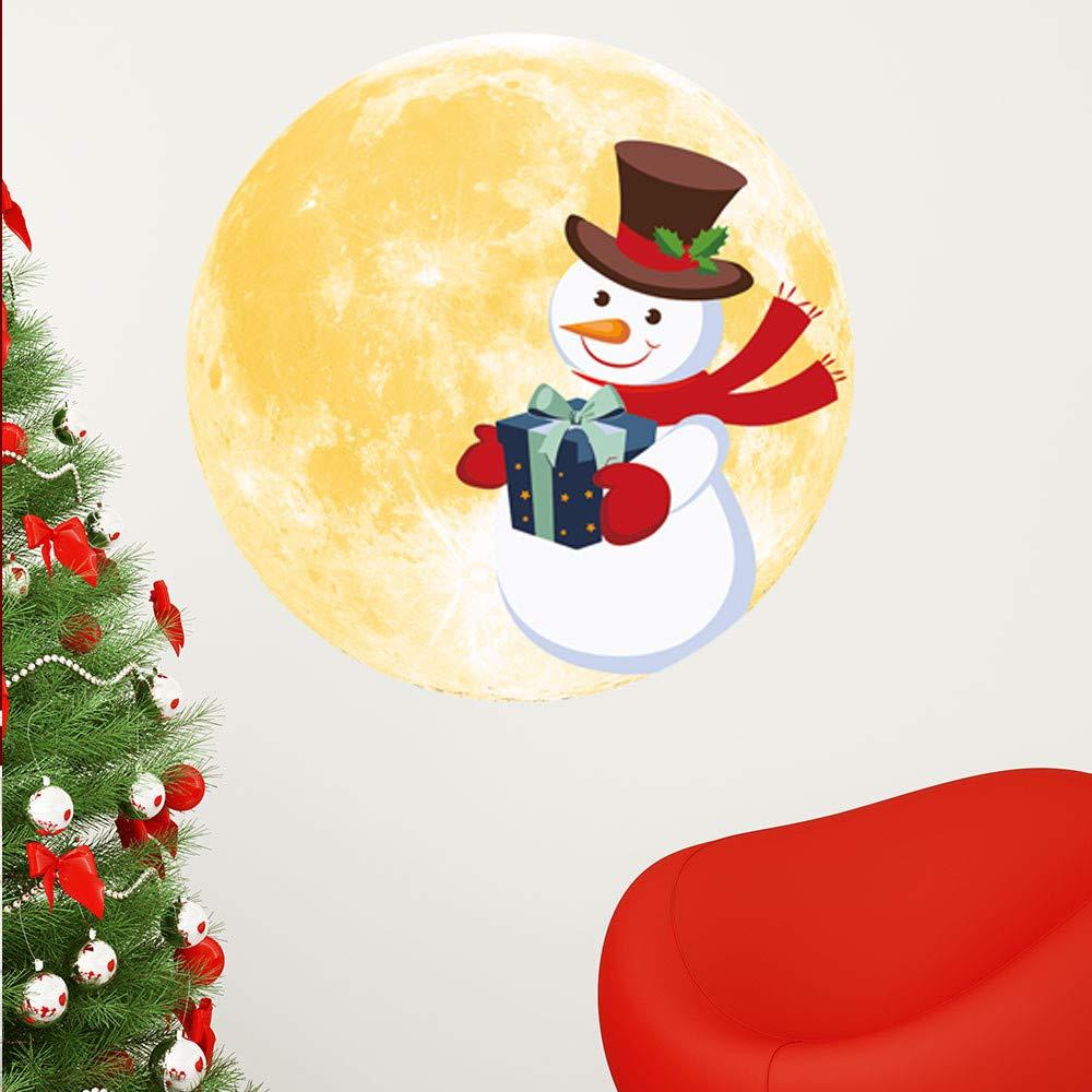 gaddrt Weihnachtsaufkleber Tapeten Weihnachten 3D Luminous Moon Deer ...