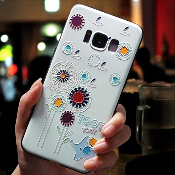 Amazon.com: KCHHA Phone case 3D Flower Emboss Case for ...