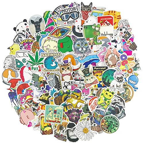 Cartoon Stickers for Teens Kids Cool Animal Laptop Water Bottle Skateboard Car Bike Vinyl Stickers Decals 100pcs