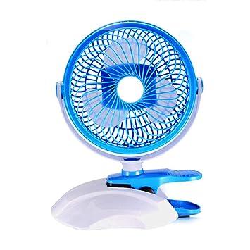 Ventilador eléctrico Ventilador USB Mini, Ventilador De Clip, Ventilador De Escritorio, Ventilador Pequeño, Ventilador De Escritorio Portátil De 6 Pulgadas (Color : Blue): Amazon.es: Electrónica