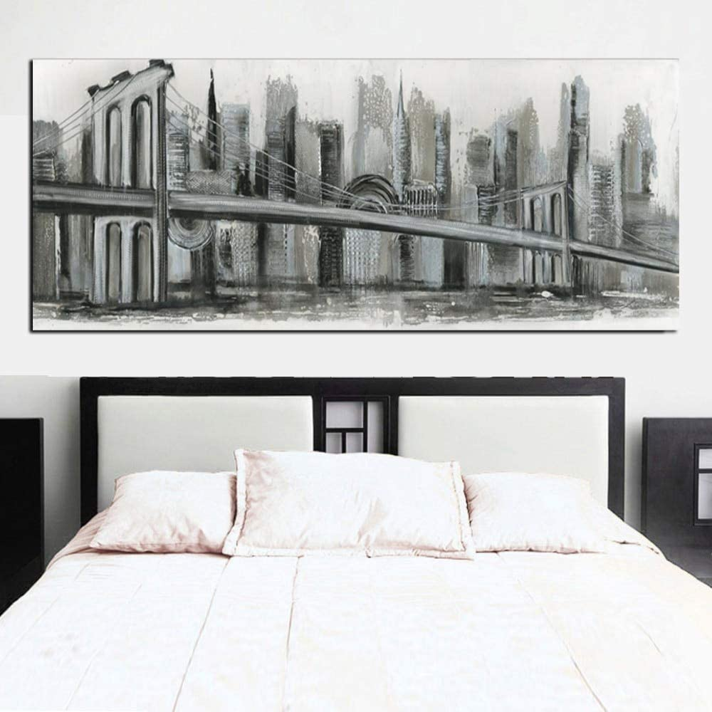 SILYHN Print Abstract Construction Famous Bridge Building Sketch Landscape Canvas Painting Modern Wall Picture Poster For Living Room