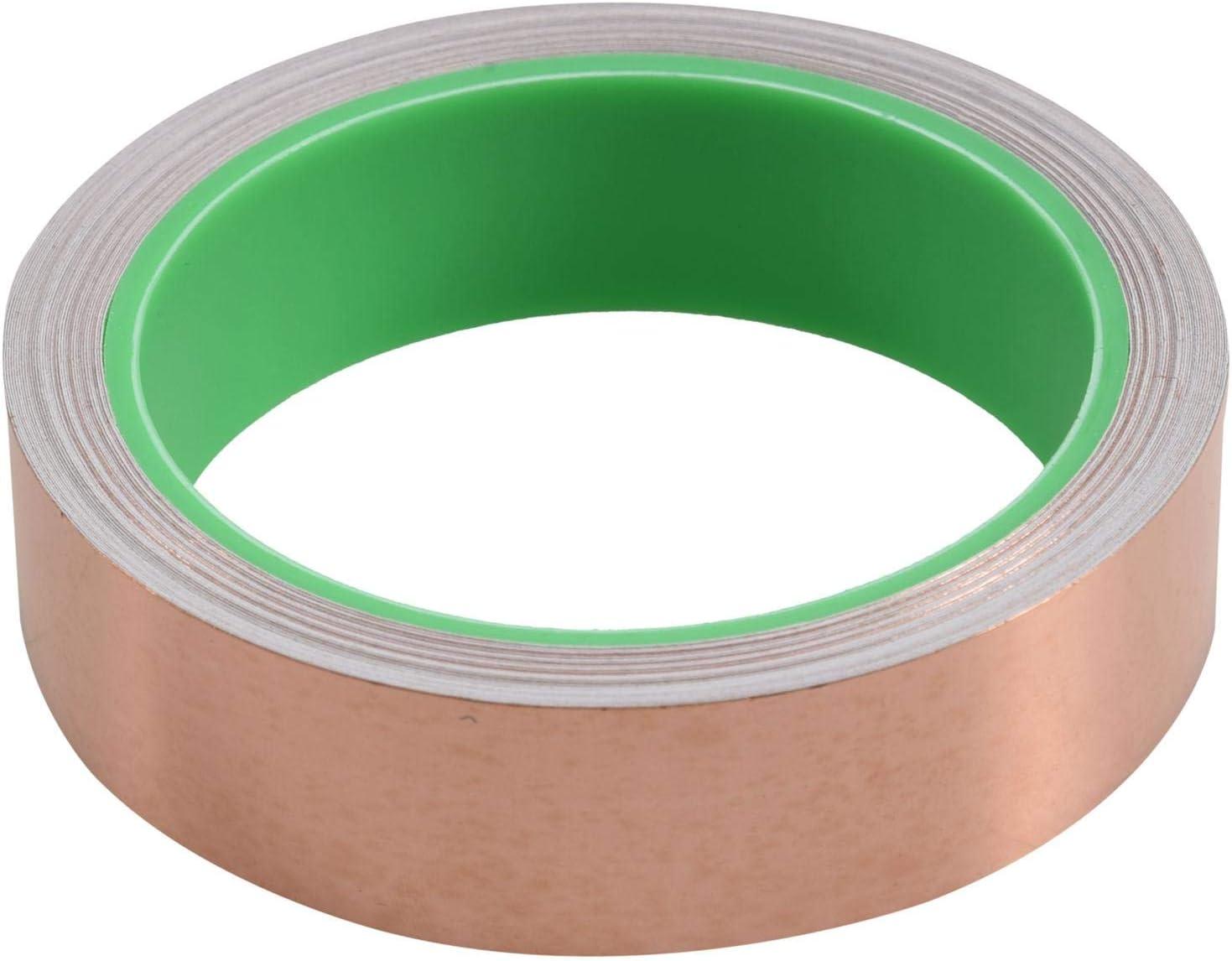 Blindage EMI Vitrail R/éParations /éLectriques - Antitartre Travaux Manuels 25 Mm X 11 M Circuits En Papier WOVELOT Copper Ruban Adh/éSif En Aluminium Avec Adh/éSif Conducteur